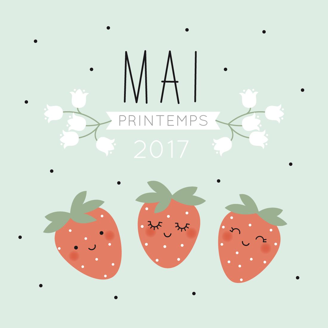 Le calendrier diy 2017 mai z le blog - Calendrier du mois de juin 2017 ...