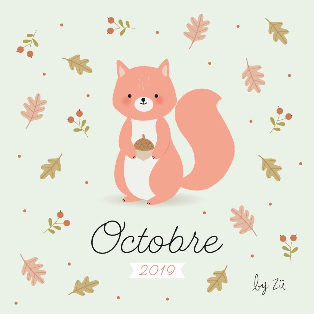 Octobre Calendrier 2019.Le Calendrier Diy Octobre 2019 Zu Le Blog
